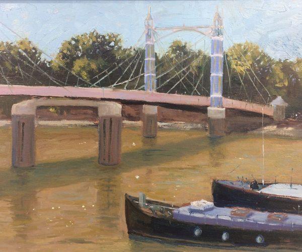 Plein Air Studie, Prinz Albert Brücke, London